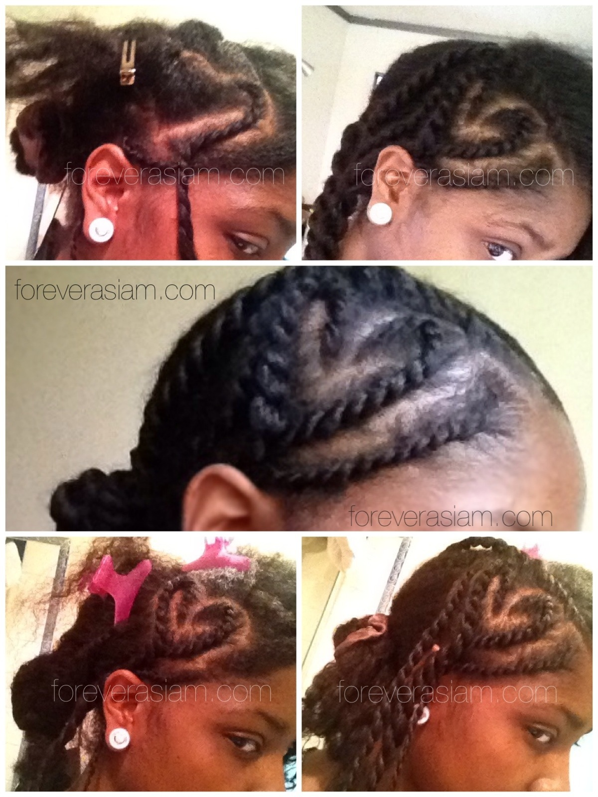 Hairstyle 5.3.13 Flat Twist Heart Bun