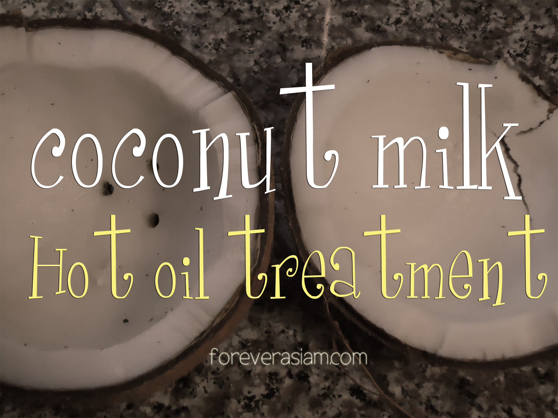 D.I.Y Coconut Hot Oil Treatment