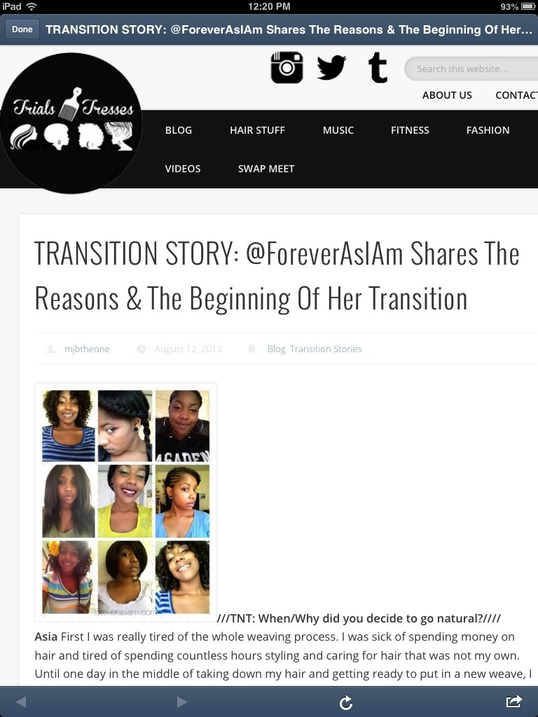 Ya Girl Got Featured Over at Trials N Tresses!